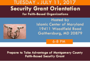 Security Grant Orientation @ Islamic Center of Maryland | Gaithersburg | Maryland | United States