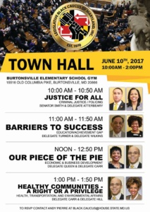 The Town Hall for Montgomery County @ Burtonsville Elementary School Gym   Burtonsville   Maryland   United States