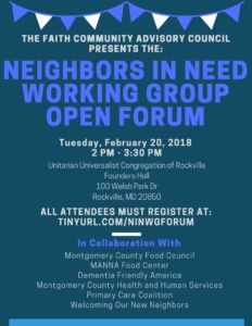 open forum flyer