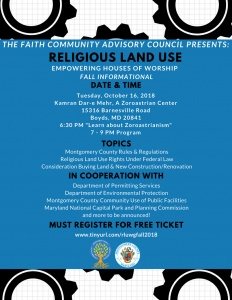 Empowering Houses of Worship Fall Informational @ Kamran Dar-e Mehr, A Zoroastrian Center | Boyds | Maryland | United States