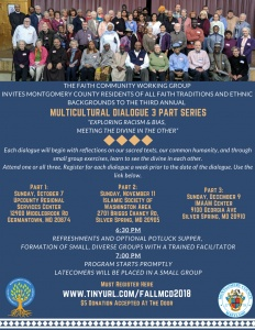 3rd Annual Multicultural Dialogues: 3 Part Series @ Upcounty Regional Services Center | Germantown | Maryland | United States