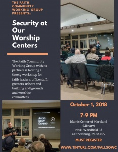 Security at Our Worship Centers @ Islamic Center of Maryland | Gaithersburg | Maryland | United States