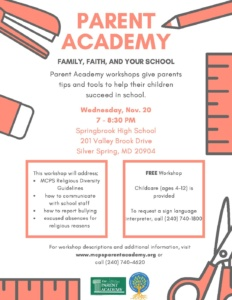 Parent Academy @ Springbrook High School