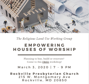 Empowering Houses of Worship 2020 @ Rockville Presbyterian Church